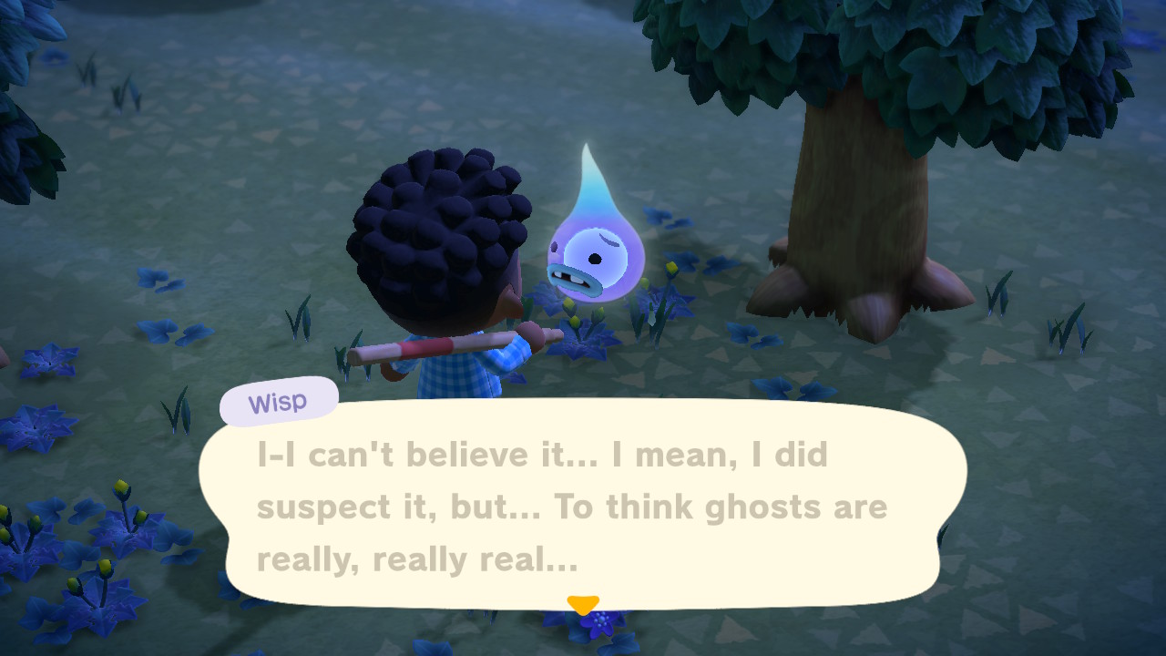 Animal Crossing New Horizons: ayuda a Wisp en la noche para obtener recompensas especiales 3