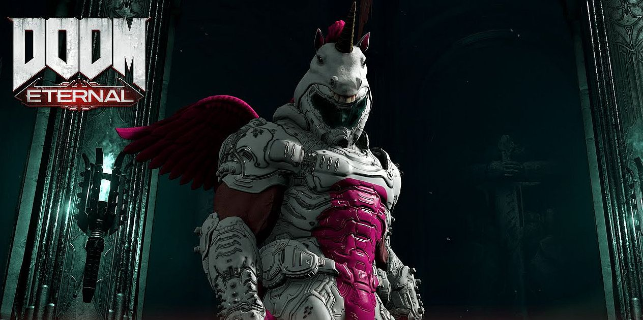 You Can Dress Doom Slayer As A Unicorn In Doom Eternal