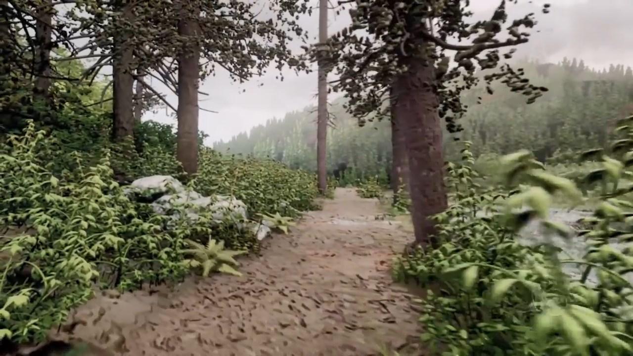 Este bosque fotorrealista se hizo en Dreams 16