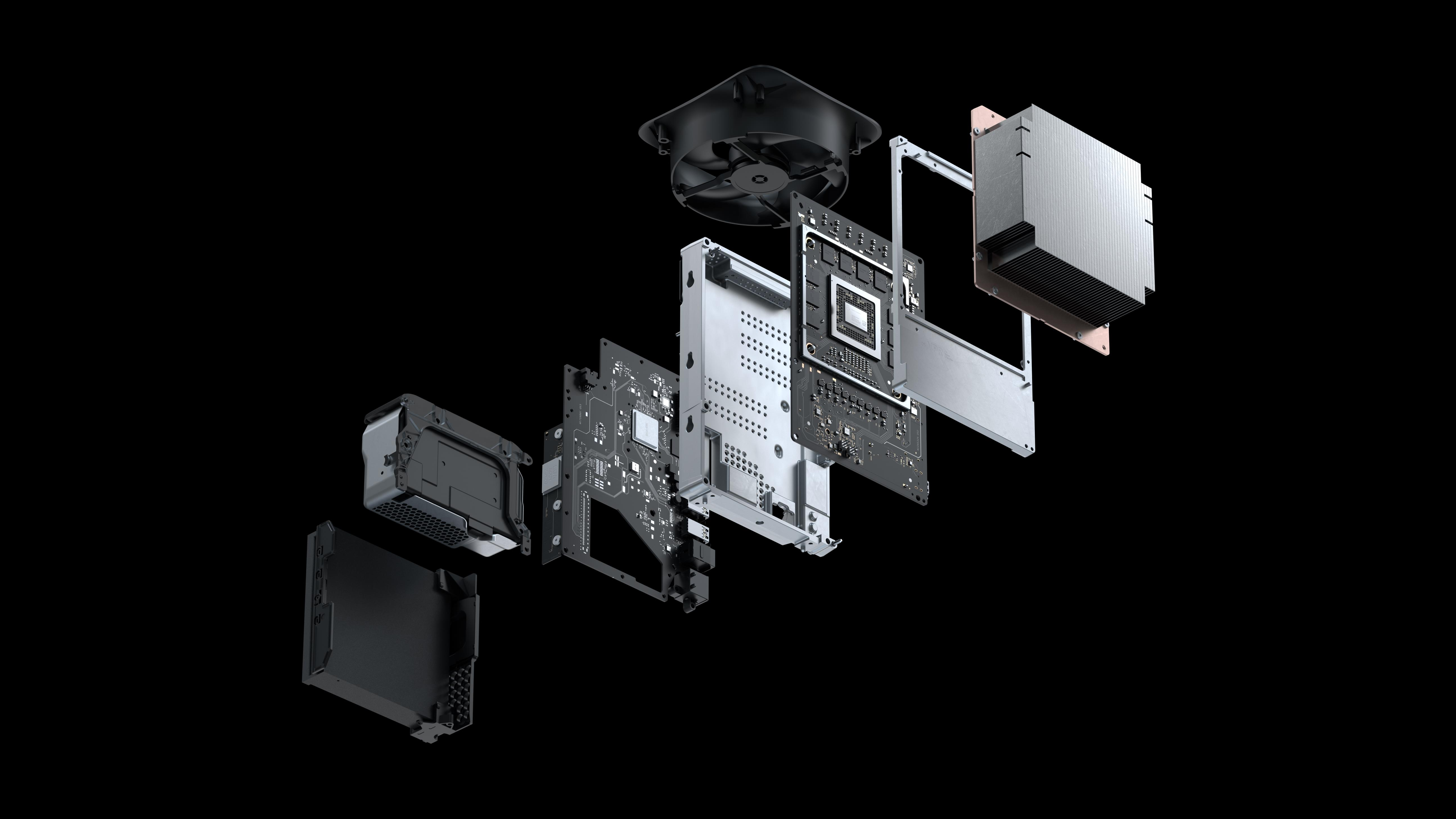The internal components of the Xbox Series X