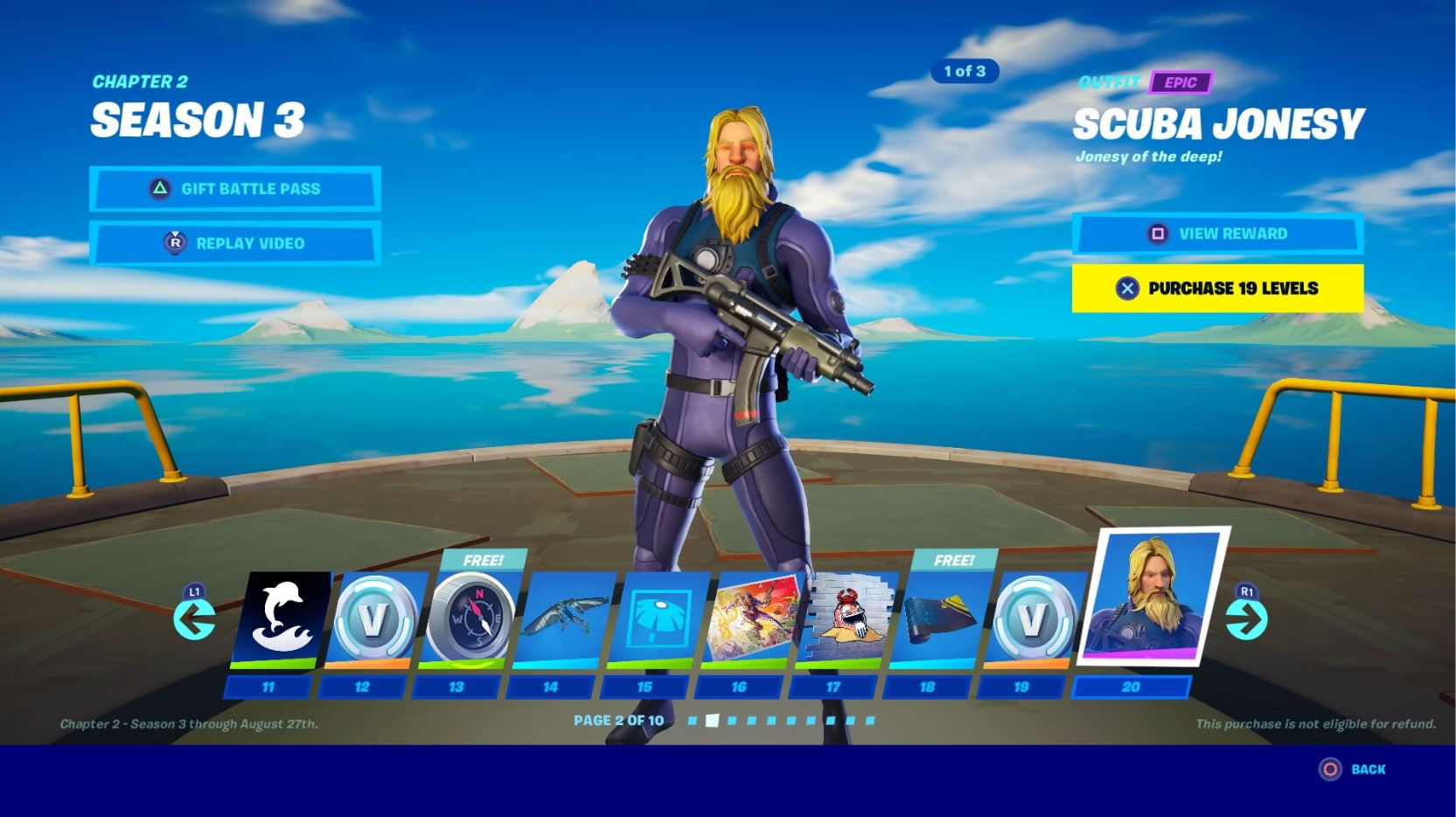 Fortnite Season 3 Battle Pass Skins Fade Scuba Jonesy Kit Eternal Knight Vg247