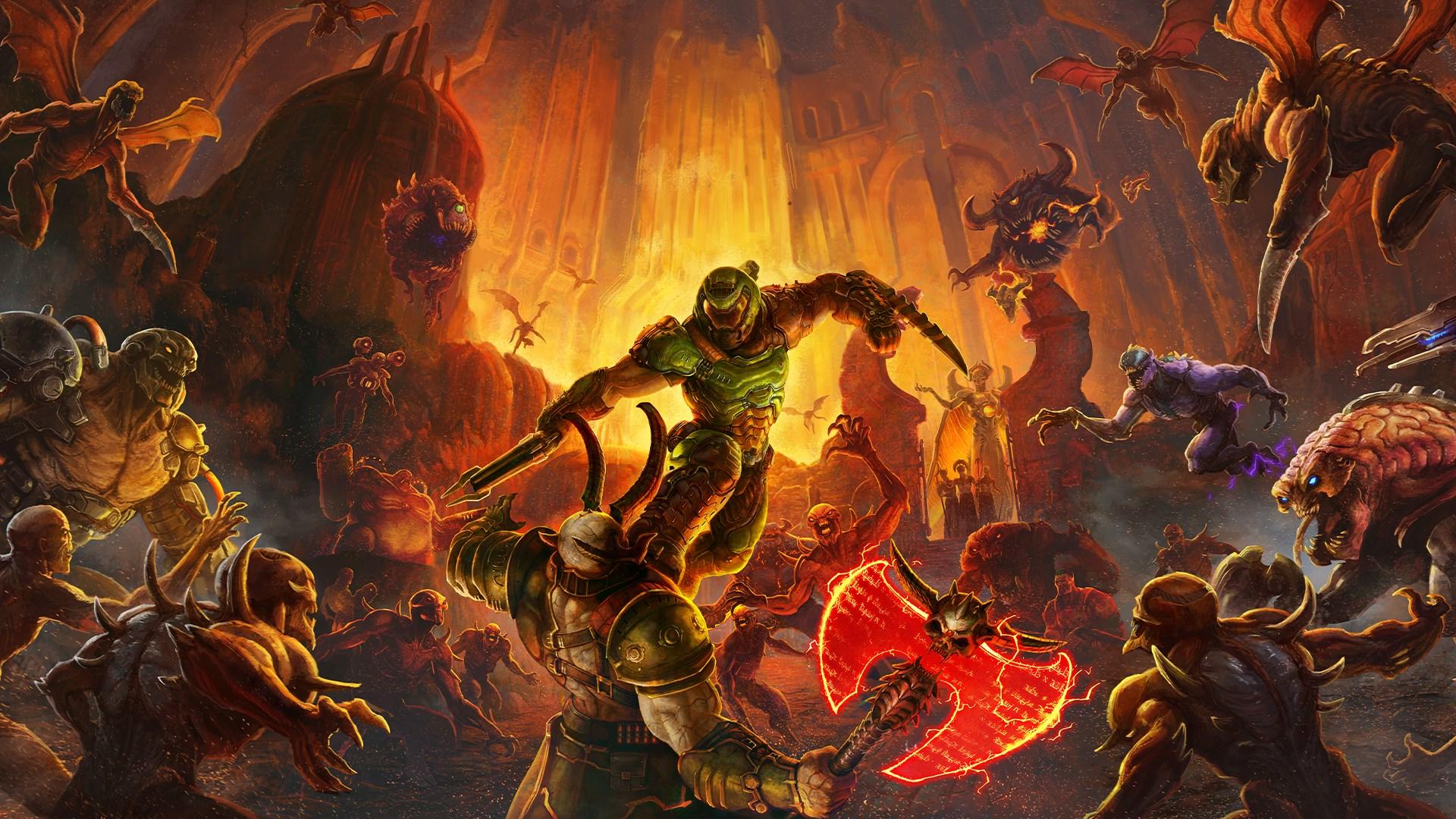 Here's Doom Eternal running at 4K 120fps on an RTX 3080 thumbnail