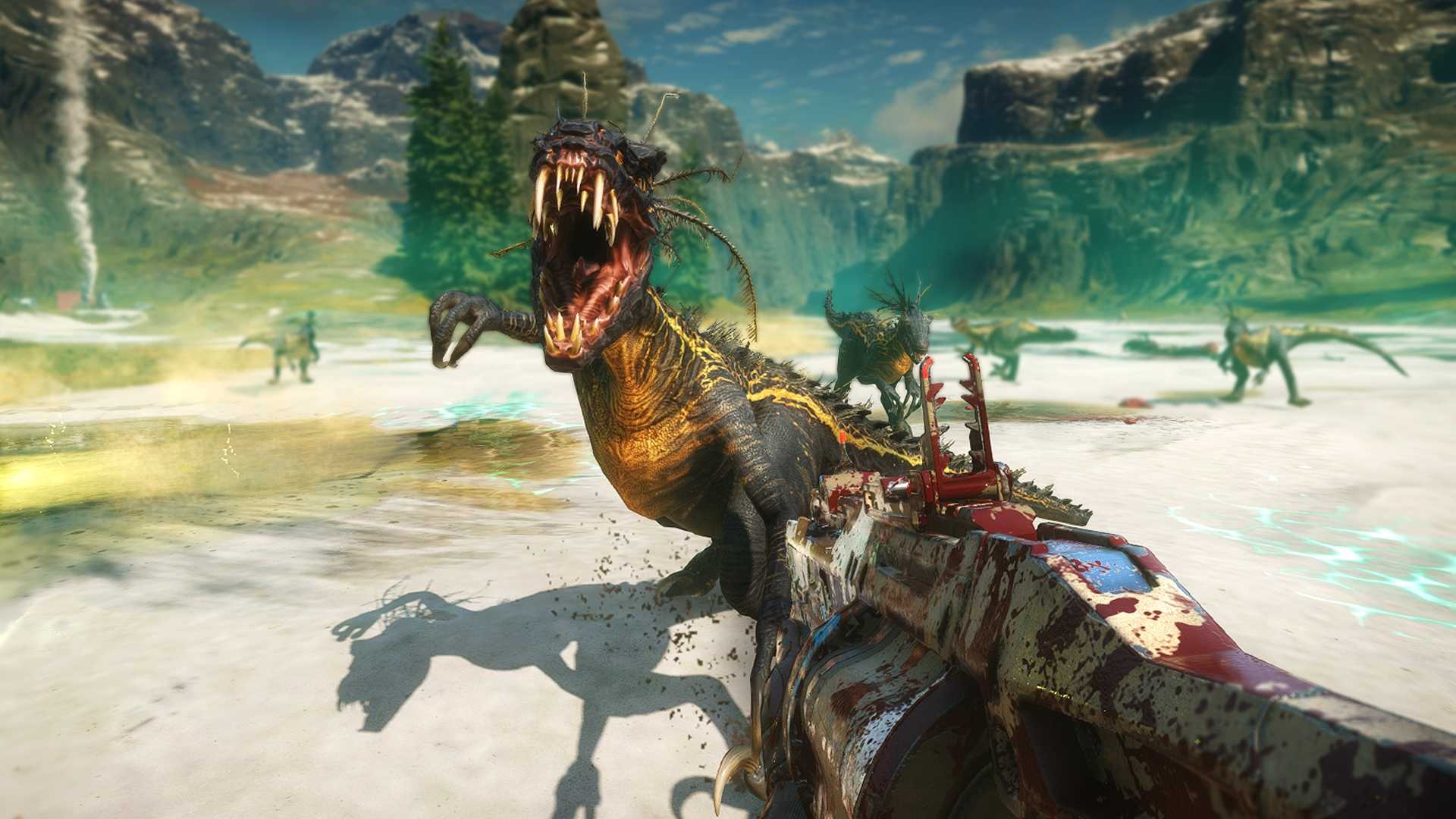 Dinosaur blasting game Second Extinction now available through Steam Early Access thumbnail