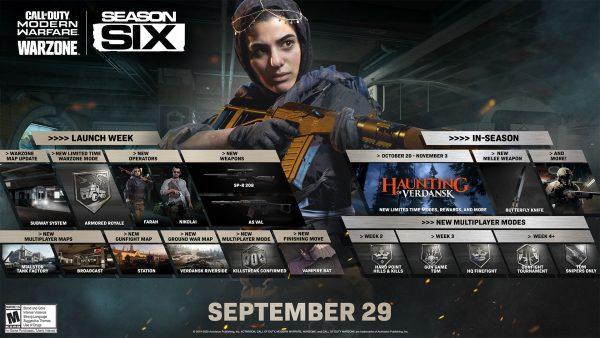 Modern Warfare Season 6 roadmap