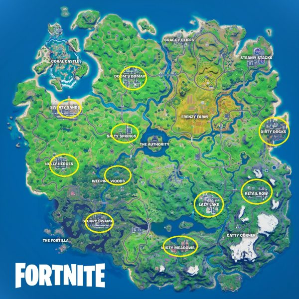 Fortnite Birthday Challenges Where To Find All The Birthday Cakes