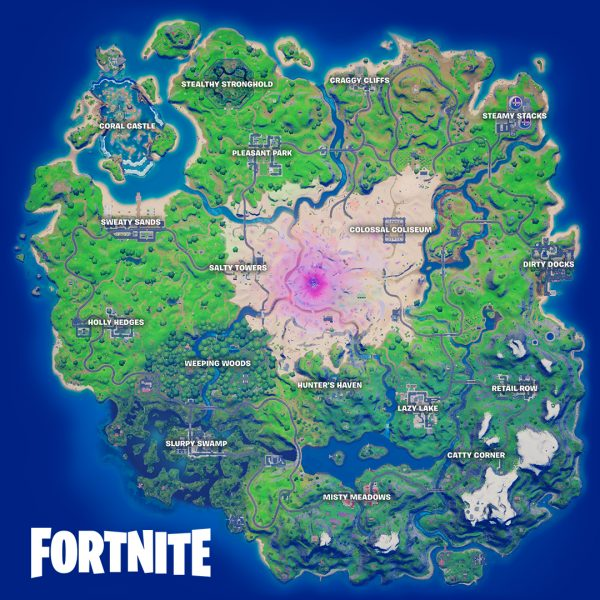 Fortnite Chapter 2 Season 5 map