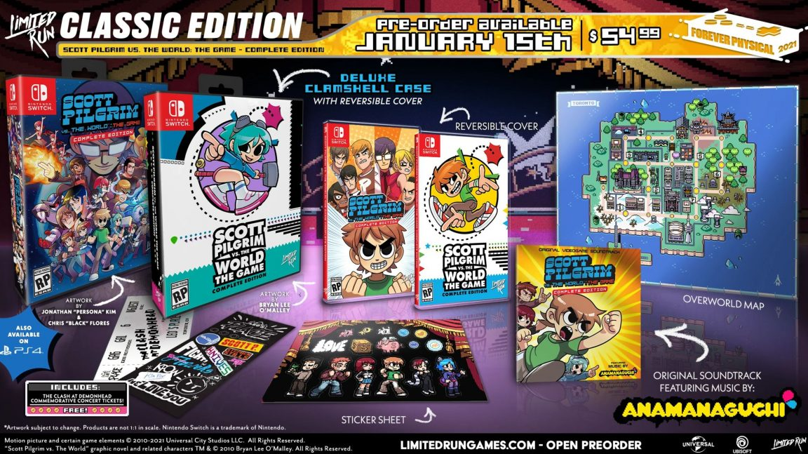 Scott Pilgrim vs The World: The Game – Complete Edition getting a physical release