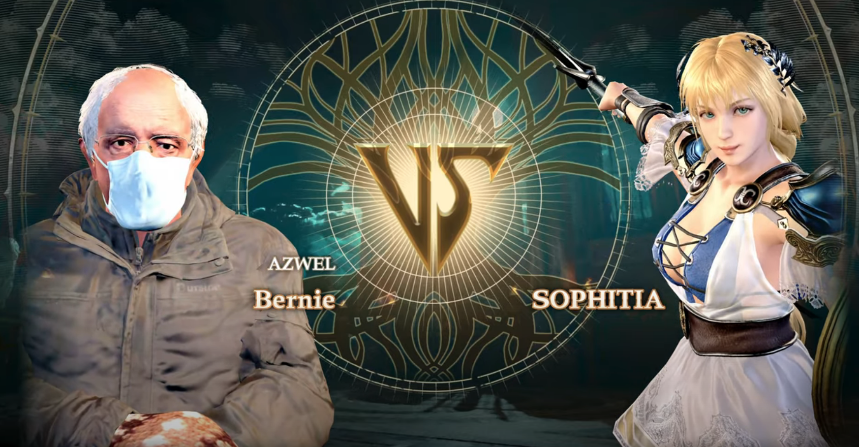 You can play as the Bernie Sanders inauguration meme in Soulcalibur 6