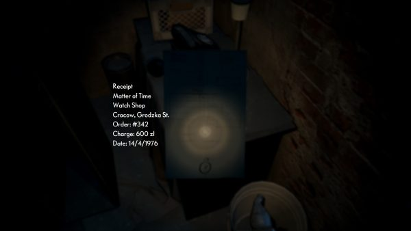 Confirmation of the watch with the middle door code