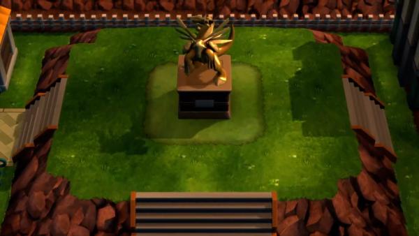 Pokémon Brilliant Diamond and Shining Pearl statue screenshot