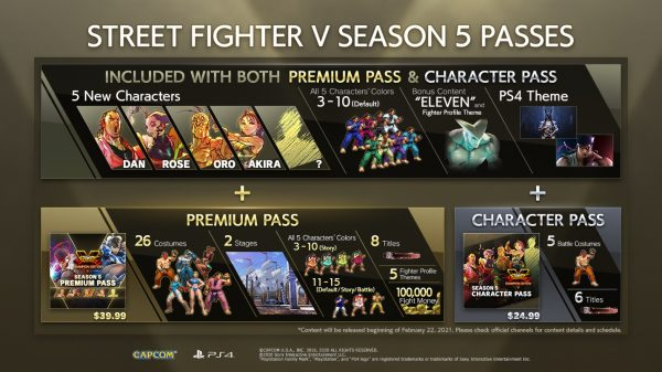 Street Fighter 5 Season Passes