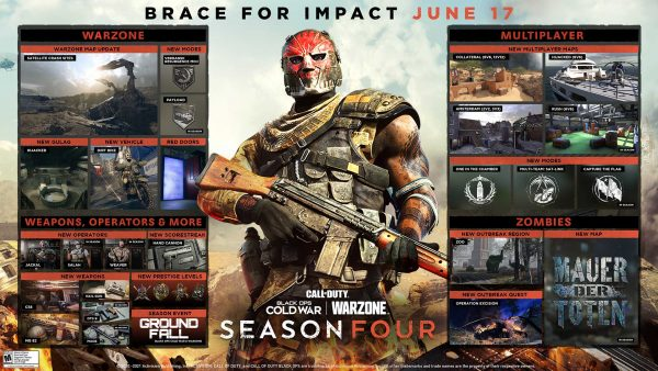 Call of Duty Warzone and Black Ops Cold War Season 4 road map