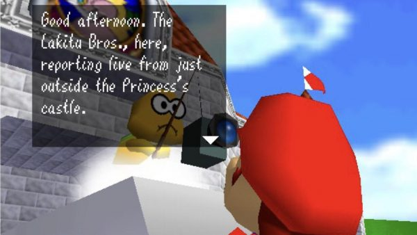 Super Mario 64 camera screenshot