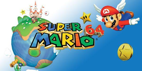 Super Mario 64 anniversary header