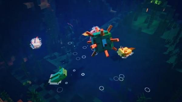 Minecraft Axolotls playing