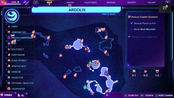Ratchet & Clank Ardolis Ryno spybot location map