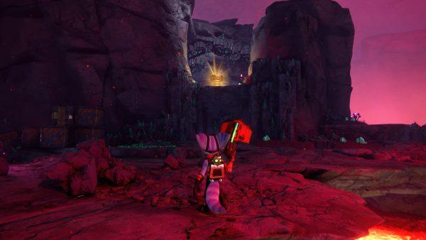 Ratchet & Clank Rift Apart Blizar Prime Gold Bolt location screenshot 1