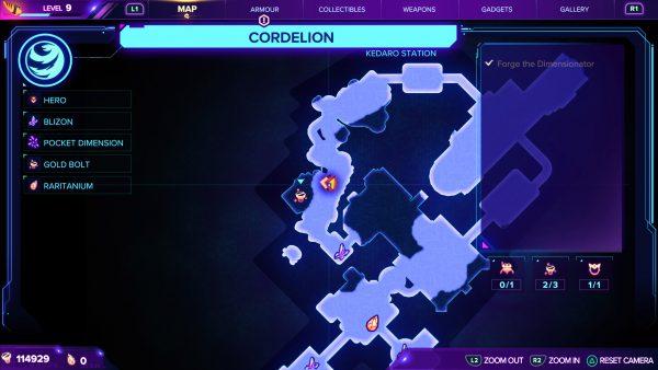Ratchet & Clank Rift Apart Cordelion Gold Bolt 3 map location