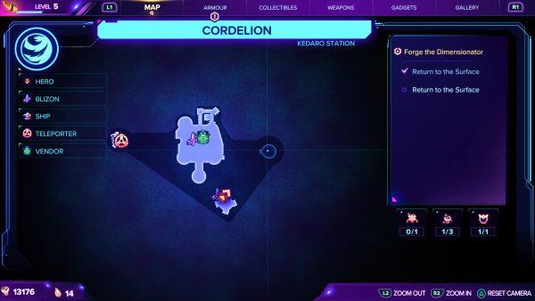 Ratchet & Clank Cordelion Gold Bolt 2 Location map