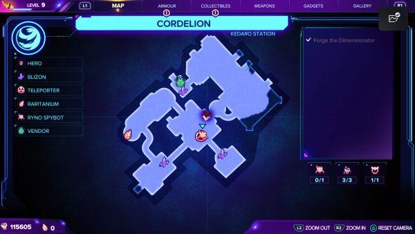 Ratchet & Clank Rift Apart Cordelion Spybot map location