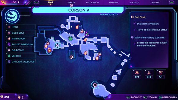 Corson V Gold bolt location 1 map