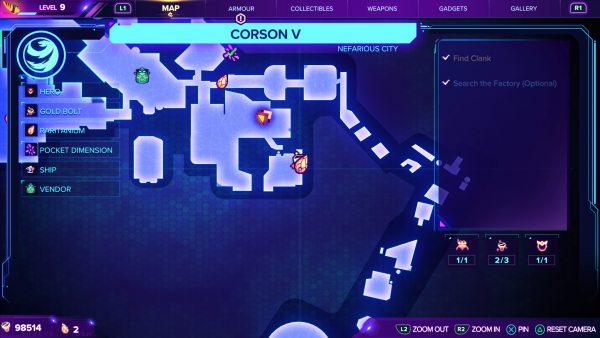 Ratchet & Clank Rift Apart Corson V Gold Bolt 3 map location