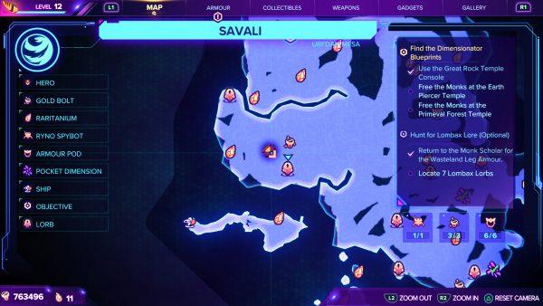 Ratchet & Clank Rift Apart Lorb 11 map location