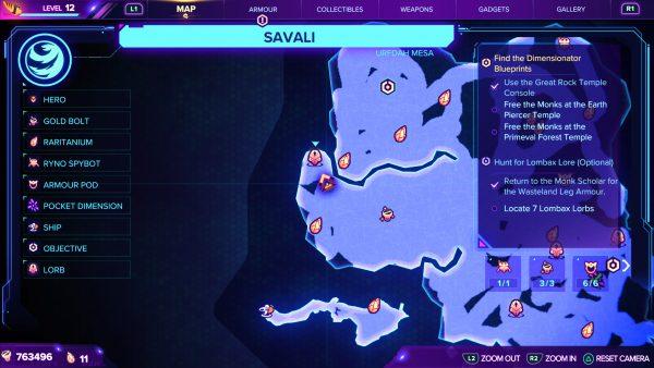 Ratchet & Clank Rift Apart Lorb 2 map location