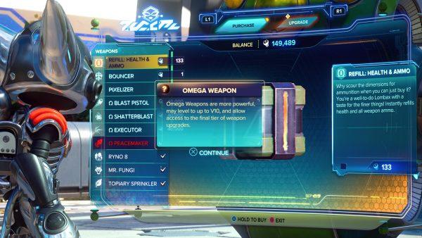 Ratchet & Clank Rift Apart Omega Weapons