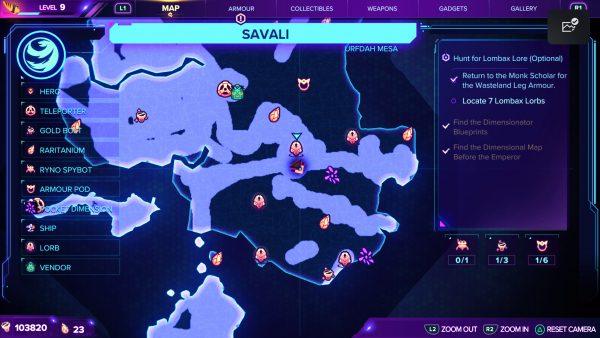 Ratchet & Clank Rift Apart Savali Lorb 5 map location