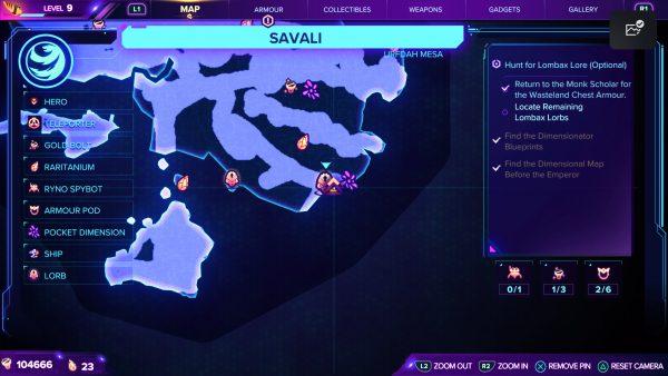 Ratchet & Clank Rift Apart Savali lorb 8 map location