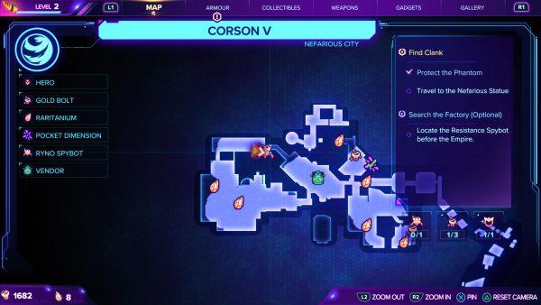 Ratchet & Clank Rift Apart Corson V Spybot location map
