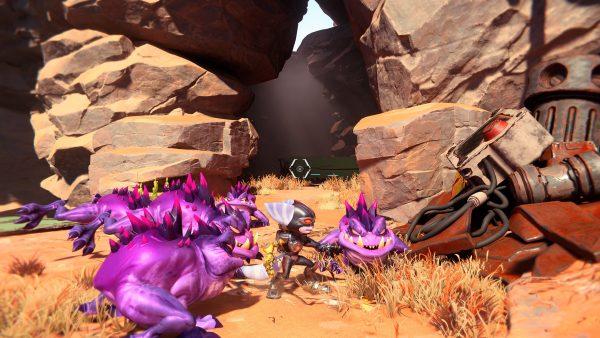 Ratchet & Clank Rift Apart Torren IV Gold Bolt 1 entrance