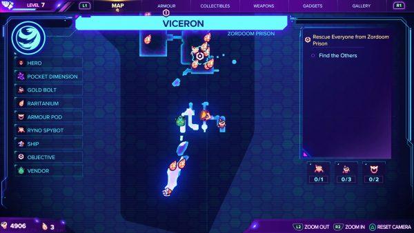 Ratchet & Clank Rift Apart Viceron gold bolt 1 map location