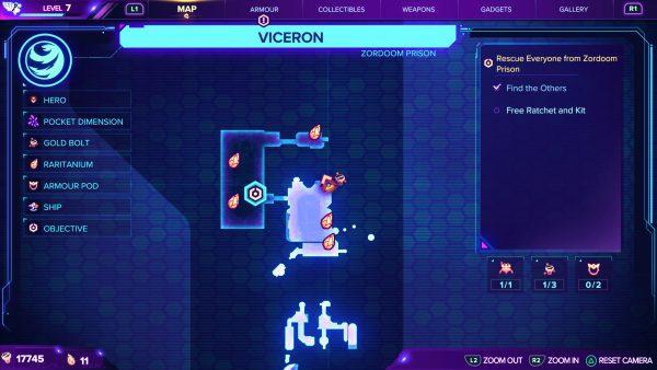 Ratchet & Clank Rift Apart Viceron Gold Bolt 2 map location