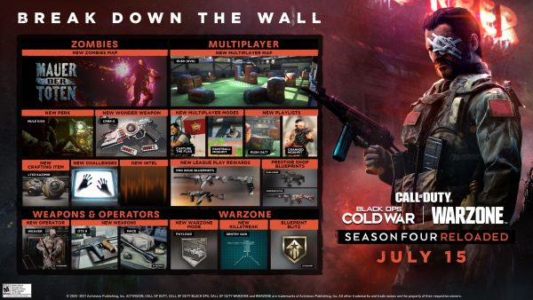 BOCW S4R Announcement ROADMAP Here's your first look at the Call of Duty Black Ops Cold War and Warzone Season 4 Reloaded roadmap