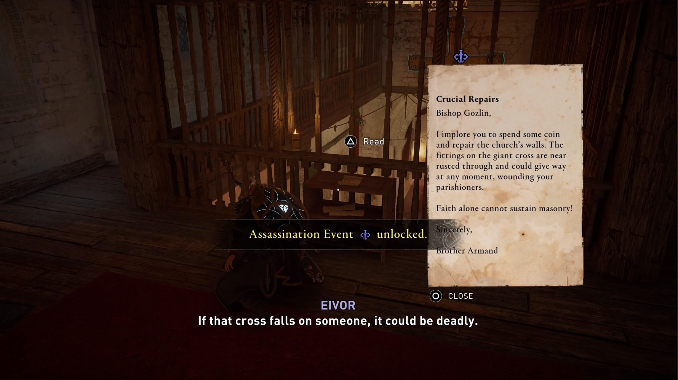 assassins creed valhalla gozlin assassination event unlocked Assassin's Creed Valhalla Siege of Paris | Bishop Gozlin Assassination Event