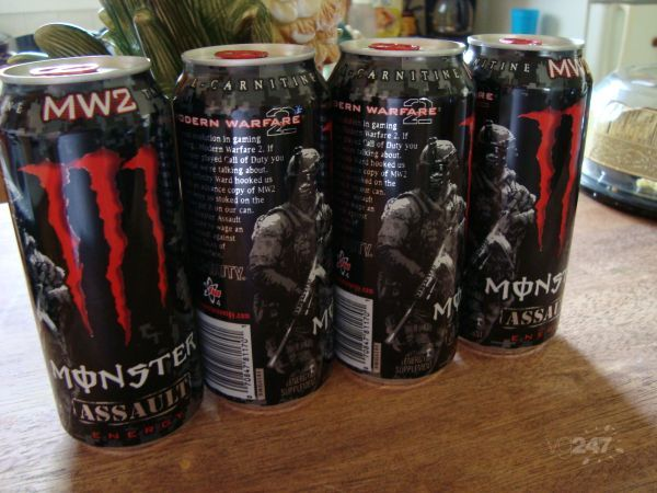 Monster.  Warfare.  Modern.  Energy. начнет продажи фирменных напитков.