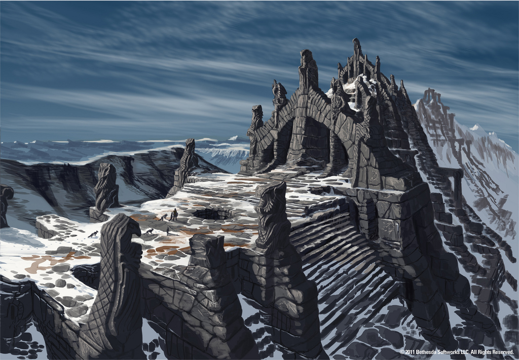 above is skyrim drawing -#main