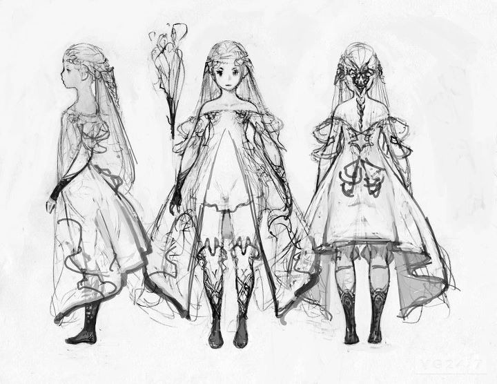 Video game concept art sketches