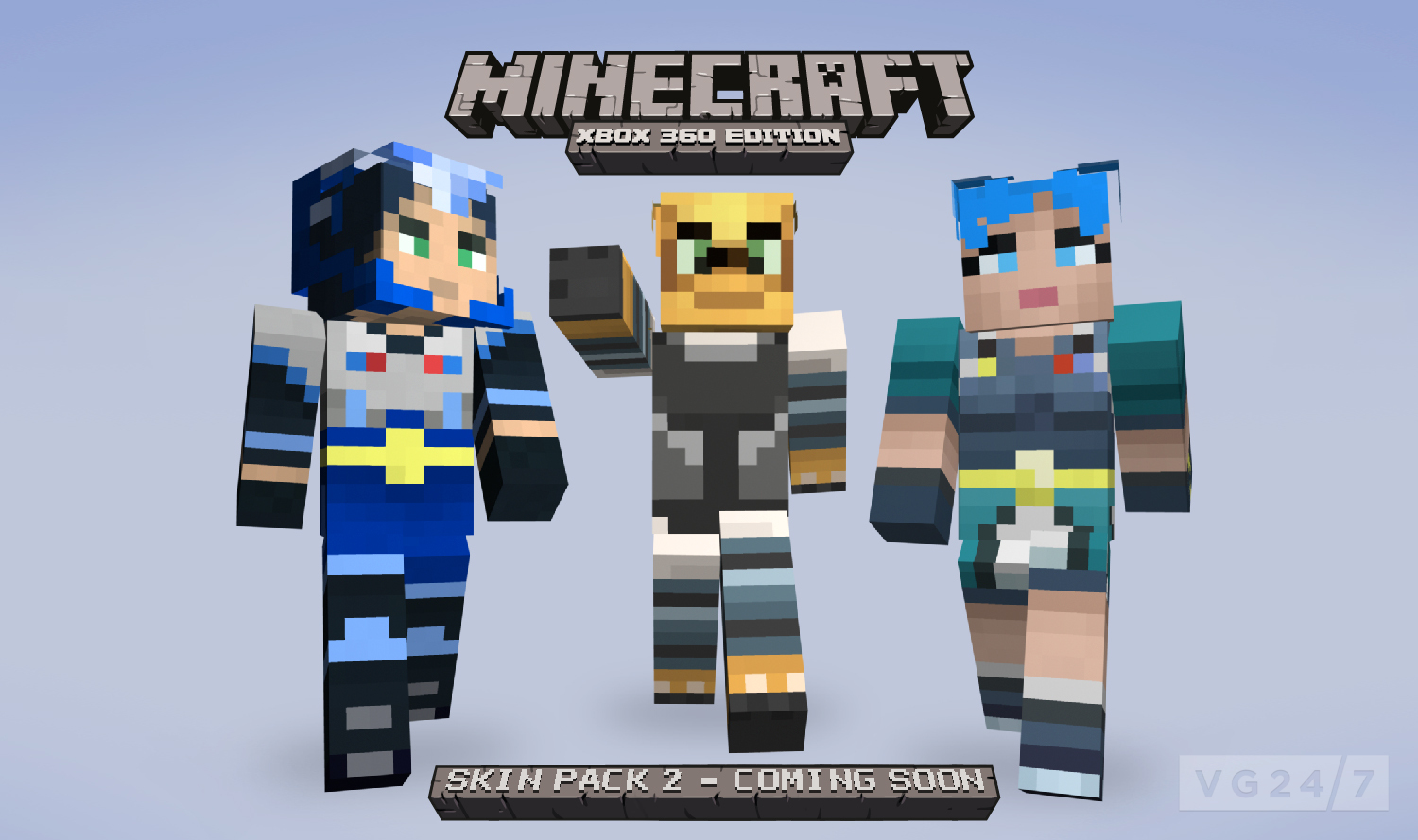 Minecraft xbox 360 skin pack 2 due august 24 vg247 for Mine craft for xbox