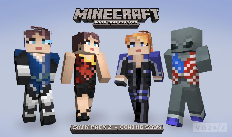 Minecraft Xbox 360 Skin Pack 2 due August 24 | VG247