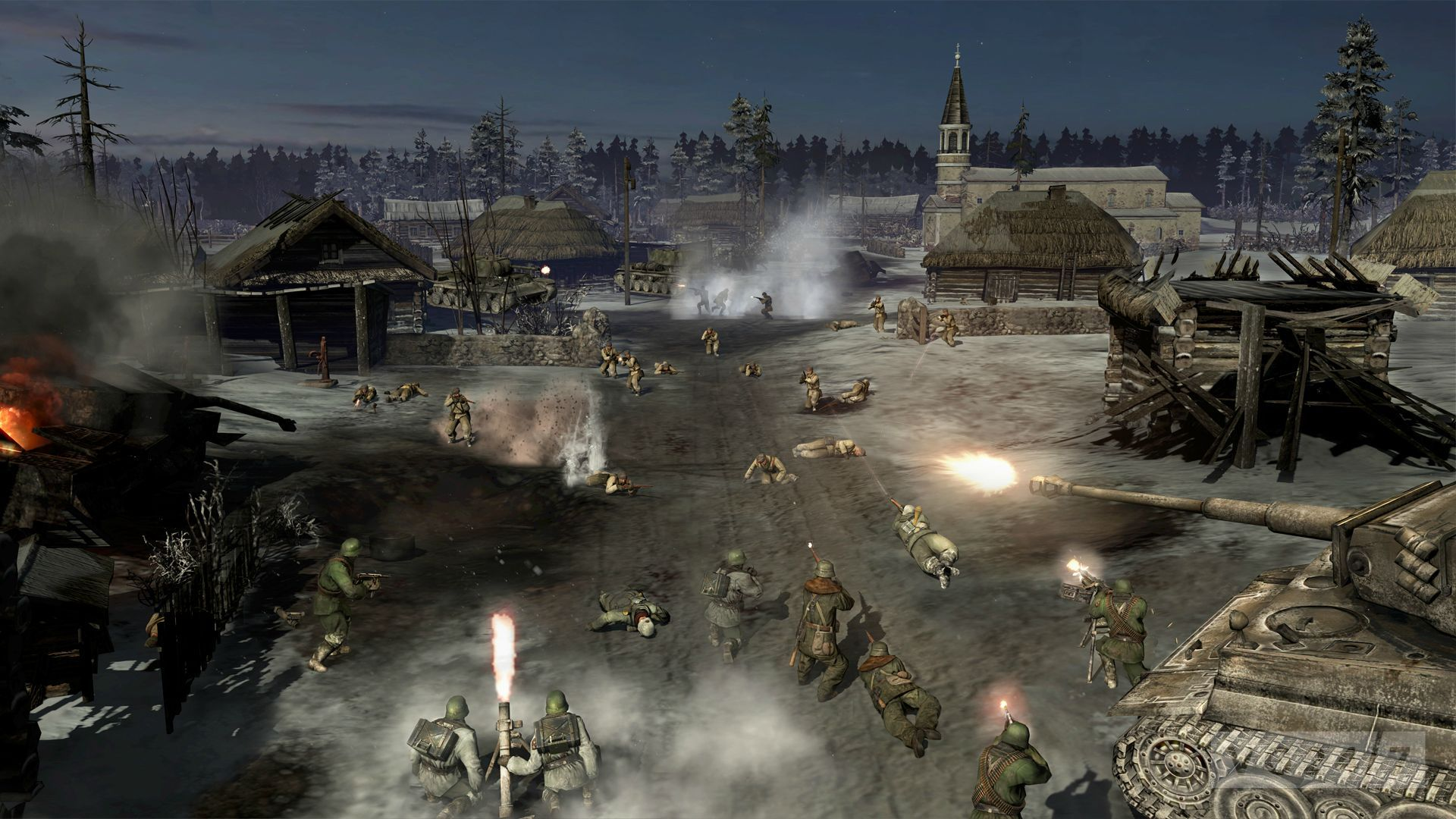 Company of Heroes 2 shots show a cold, Eastern Front