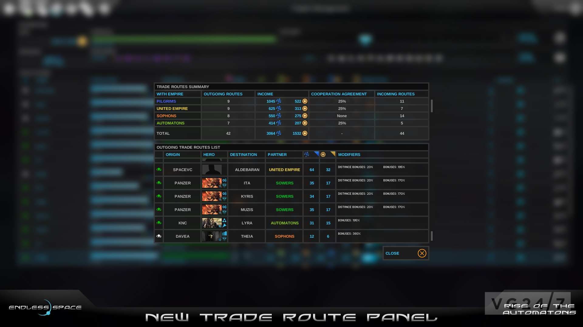 how to make a trade route in endless legend