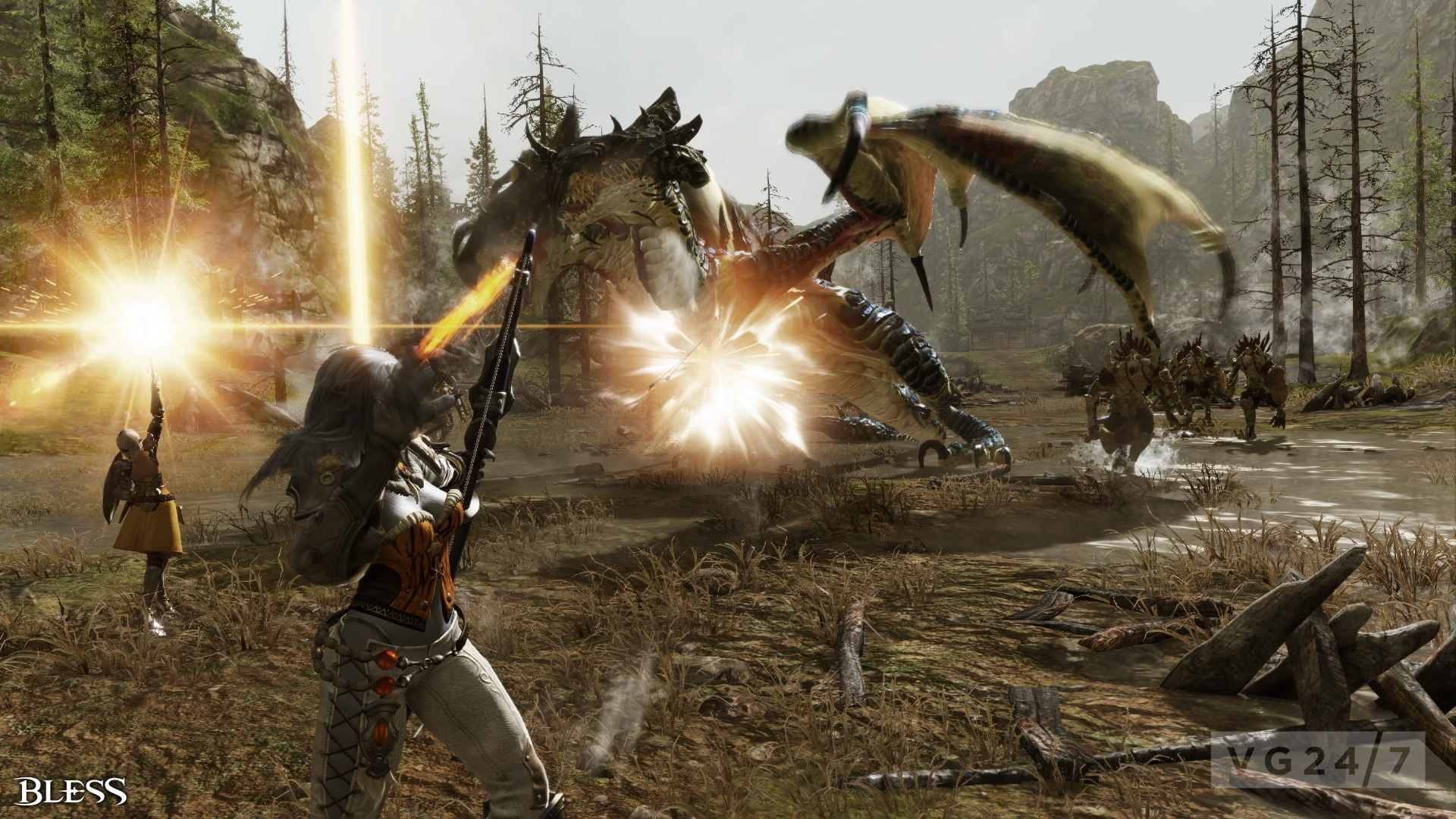 Bless Online screenshots show lovely locales, battles, creatures ...