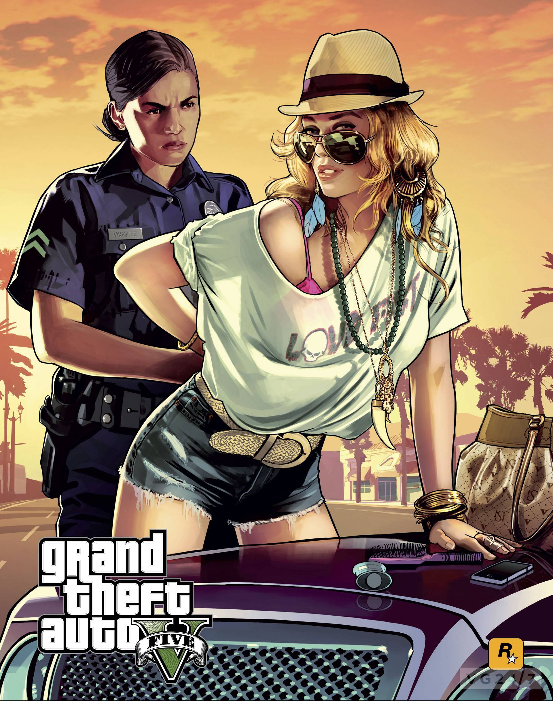 gta 5 promotional art released in glorious hd vg247. Black Bedroom Furniture Sets. Home Design Ideas