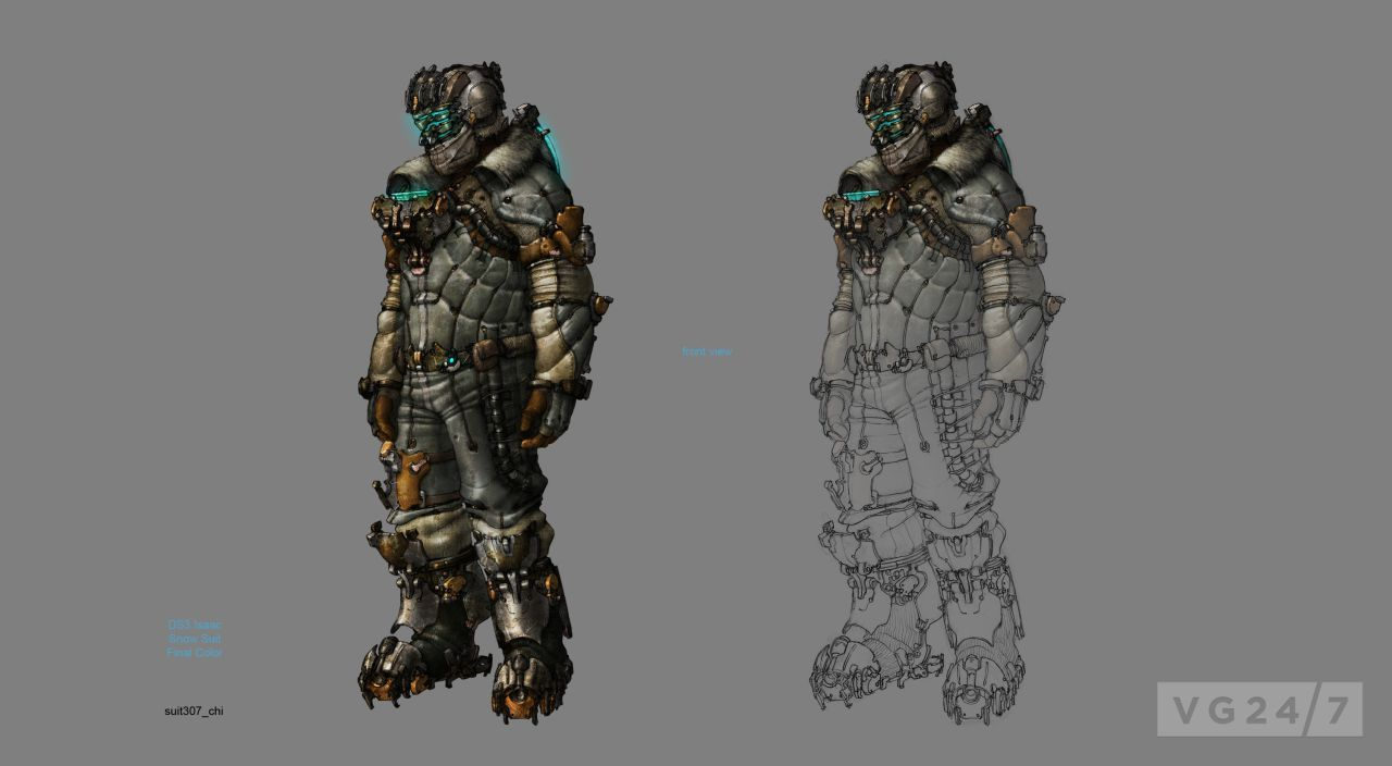 Dead Space Suits Concept Art Images
