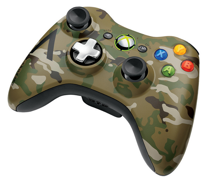you will be able to buy a camouflaged xbox 360 controller. Black Bedroom Furniture Sets. Home Design Ideas