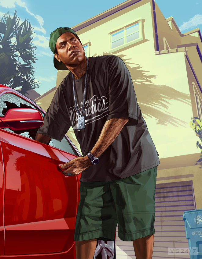 Gta 5 Art Introduces A Swathe Of Characters Vg247