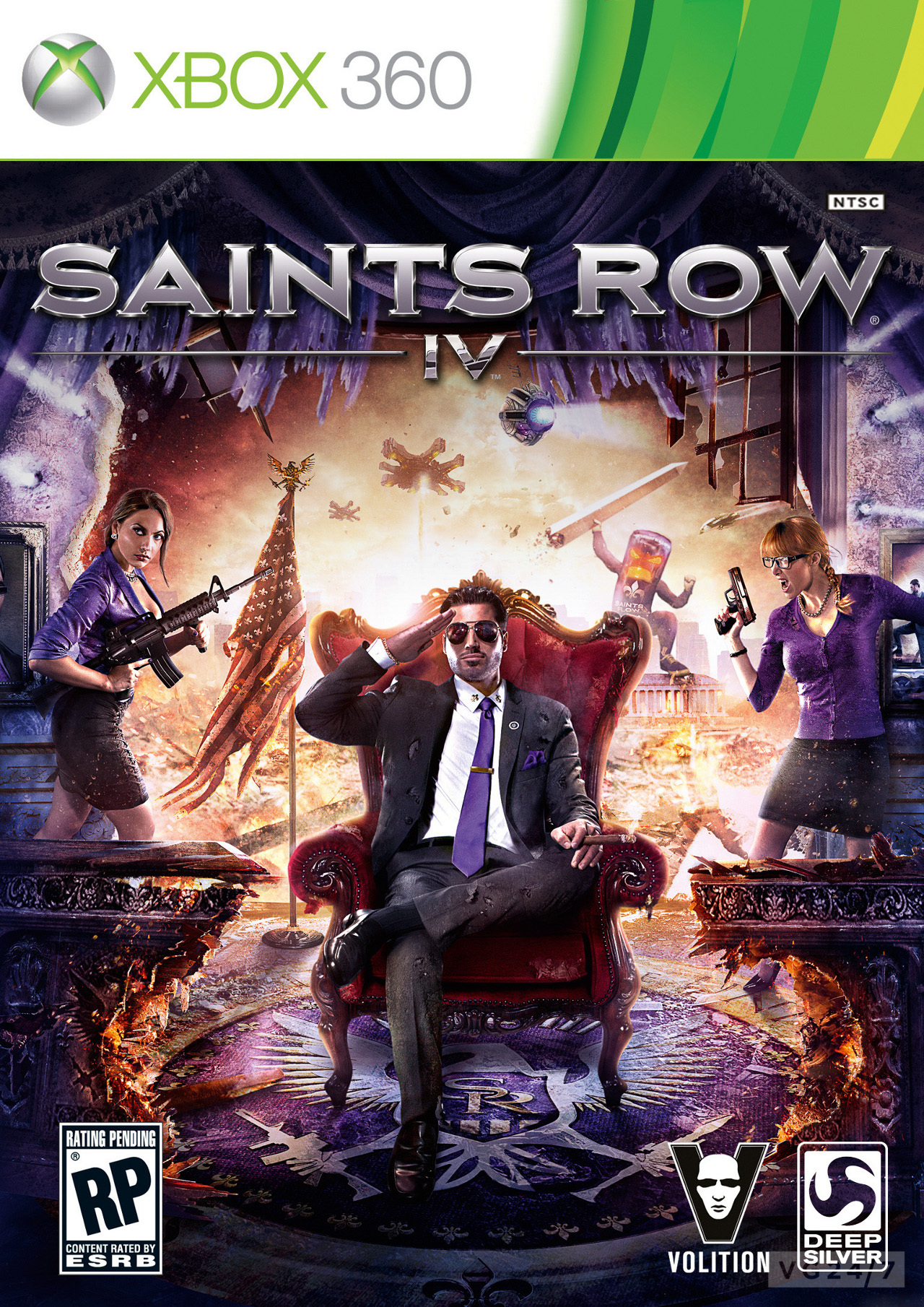 Saints And Angels Oracle Cards: Saint's Row 4 Box-art Is Mad, Very Purple
